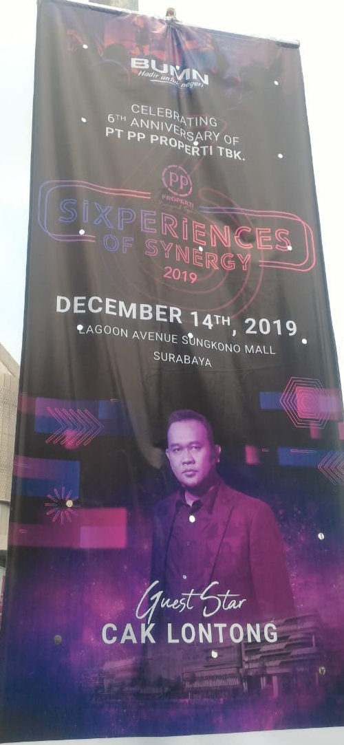 Celebrating 6Th Anniversary of PT PP Properti TBK, Guest Star Cak Lontong